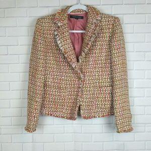 Anne Klein Tweed Woven Blazer Jacket Sz 8P